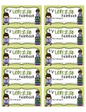 Literature Notebook Labels