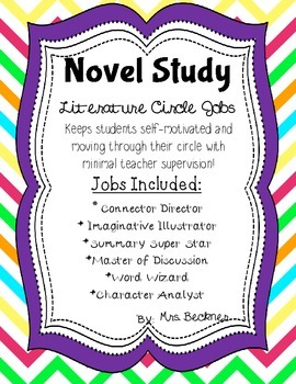Literature / Novel Study Jobs for ANY BOOK!