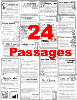 Literature Passages: Close Reading + Common Core Text Based Questions w/ Writing