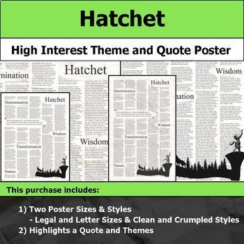 Literature Poster Bundle #4 - High Interest and Engaging Theme and Quote Posters