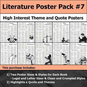 Literature Poster Bundle #7 - High Interest and Engaging Theme and Quote Posters
