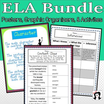 Literature Posters and Graphic Organizers