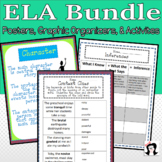 ELA, Reading, Fiction, Literature Posters and Graphic Organizers