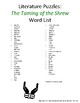 Literature Puzzles: The Taming of the Shrew