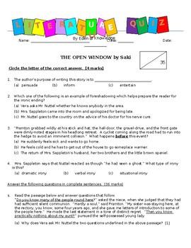 Literature Quiz - The Open Window by Saki