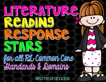 Literature Reading Response Stars | Guided Reading Questions | CCSS Aligned