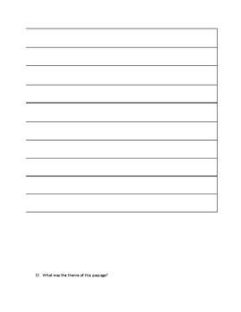 Literature/Reading Standards Assessment