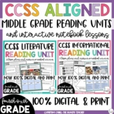 Literature Reading Unit and Informational Reading Unit Bundle (4th, 5th, & 6th)