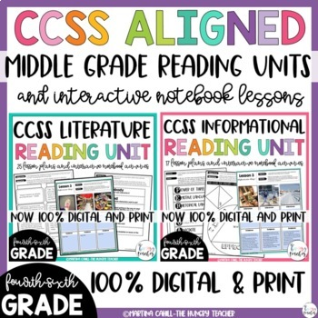 Common core resources lesson plans ccss rl69 6th literature reading unit and informational reading unit bundle 4th 5th fandeluxe Gallery