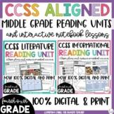 Literature Reading Unit | Informational Reading Unit | Bundle | 4th 5th 6th |