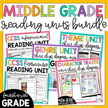 Literature Reading Units and Informational Reading Unit Bundle (4th, 5th, & 6th)