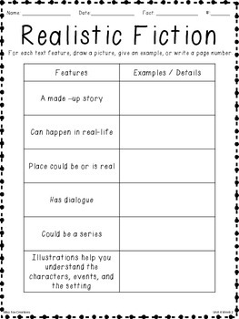Literature - Realistic Fiction Features