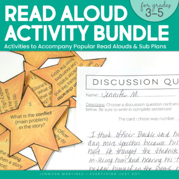Read Aloud Center Activities Bundle | Officer Buckle and Miss Nelson is Missing