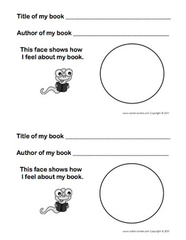 "Literature Response, ""A Book About my Book"" Use with Any Primary Book!"