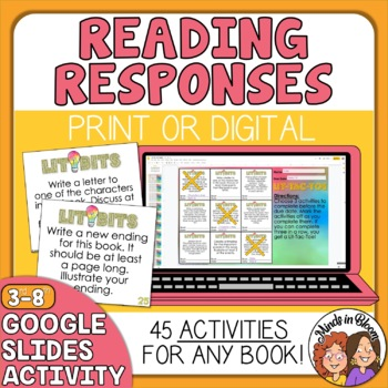 Reading Response ACTIVITY Cards for Any Book