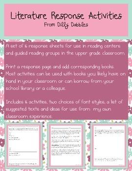Literature Response Activities Full Product