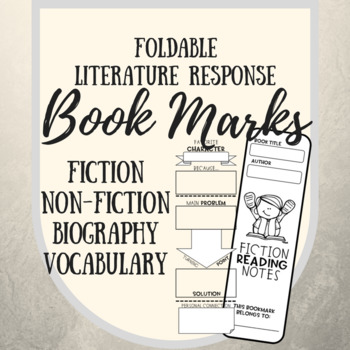 Folded Literature Response Bookmarks