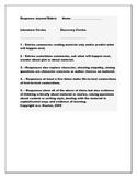 Literature Response Journal Rubric