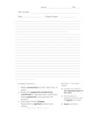 Literature Response Journal Template with Lines