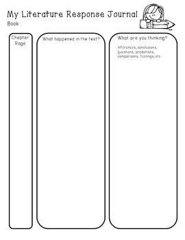 Literature Response Journal template