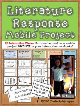 Literature Response Book Report Mobile {Optional Interacti