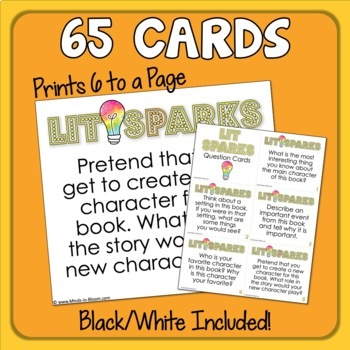 Reading Response QUESTION Cards for Any Book!