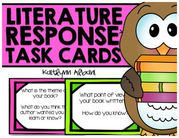 Literature Response Question Cards for ANY book!