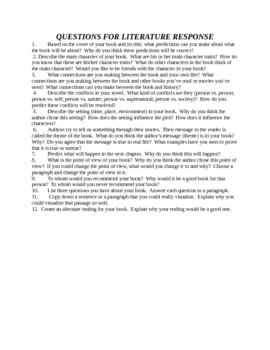 Literature Response Questions