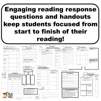 Digital Literature Response Sheets ~ For Any Novel or Short Story
