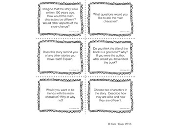 Literature Response Task Cards