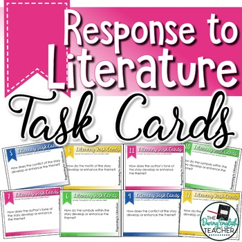 Literature Response Task Cards for Any Novel: Novel Review Task Cards