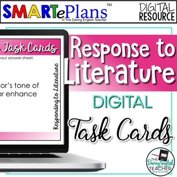 SMARTePlans Literature Response Task Cards for Any Novel