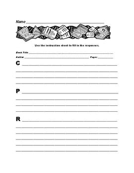 Reading Response: Short Character Analysis, Plot, & Reaction Menu 5-9