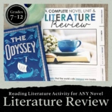 Literature Review Novel Unit Flipbook for ANY Novel: Grade
