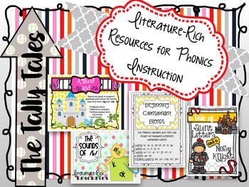 Literature-Rich Resources for Phonics Instruction : BUNDLE!