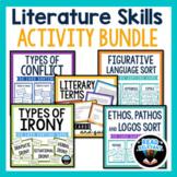 ELA Activities & Skills Bundle: Figurative Language, Conflict, Irony, and more!