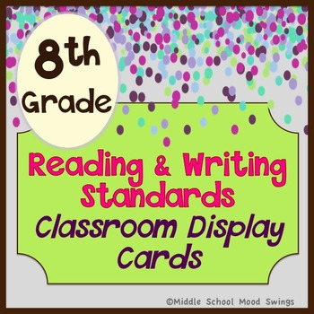 Literature Standards - Reading & Writing Common Core - Classroom Display Cards