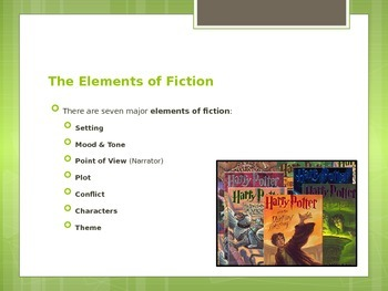 Literature Study: An Introduction to Fiction Power Point Presentation