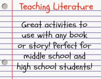 Creative activities for teaching ANY novel - LOTS of activities!