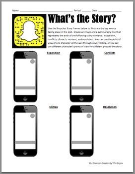 Literature Study: Snapchat Story Elements Worksheet