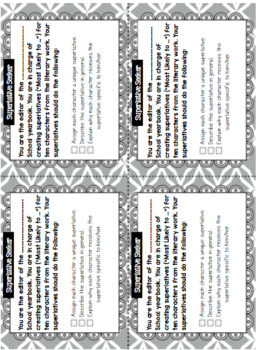 Literature Task Cards Bundle
