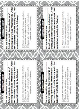 Literature Task Cards Bundle