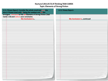 Literature Task Cards:Nurture S.M.A.R.T.E.R Thinking-52 TASK CARDS