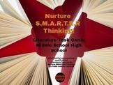 Literature Task Cards: Nurture S.M.A.R.T.E.R Thinking-Dist