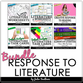 Response to Literature BUNDLE, Perfect for and Book Clubs or Literature Circles