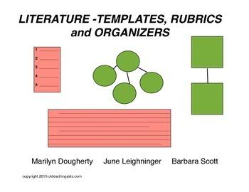 Literature - Templates, Rubrics & Organizers for Plot, Theme, Character, Setting
