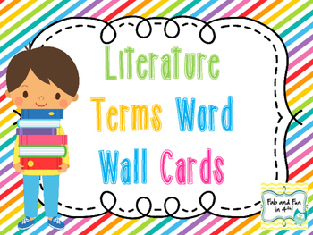Literature Term Word Wall Cards
