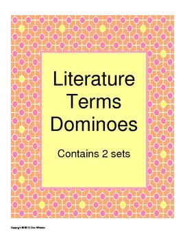 Literature Terms Dominoes