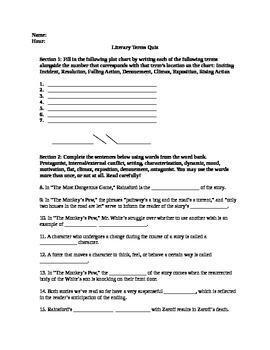 Literature Terms Quiz