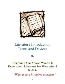 Literature Terms and Devices